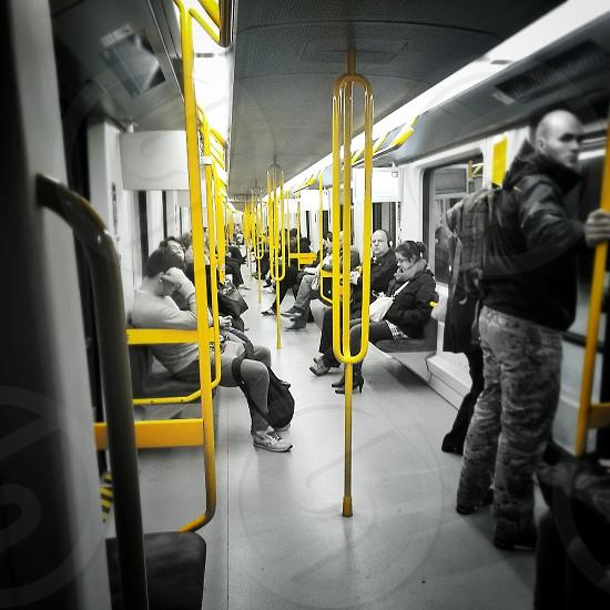 yellow People underground photo
