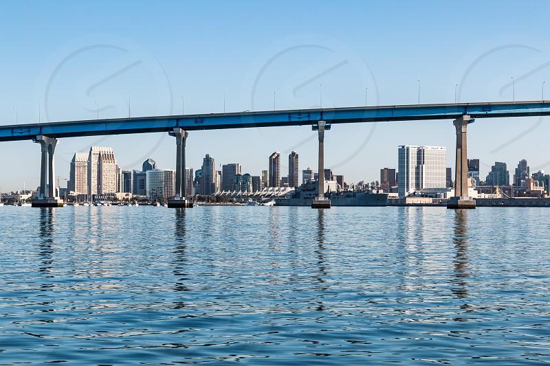 The Downtown San Diego Skyline As Seen Through The Coronado Bridge By Sherry V Smith Photo Stock Snapwire