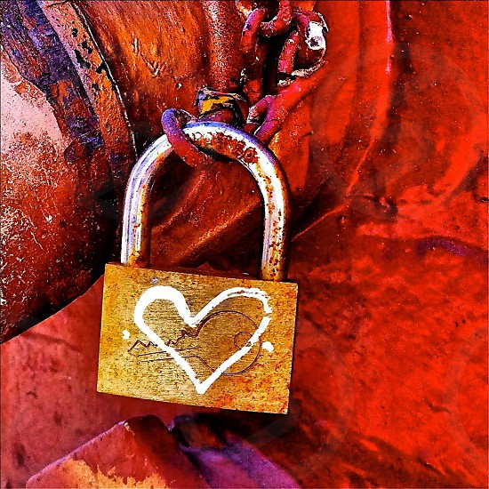 copper lock  photo
