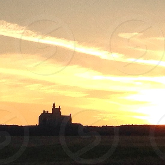 Ireland Castel in sunset  photo