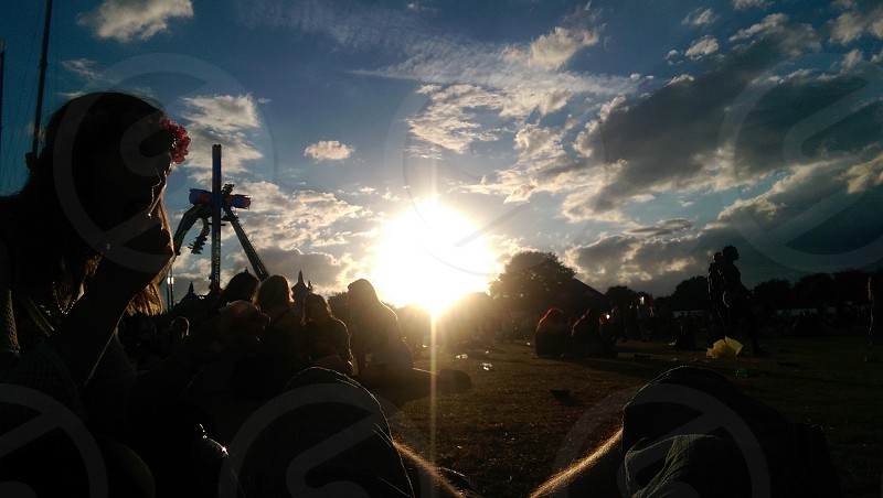 Sunset @ Wireless Festival #awesome  photo