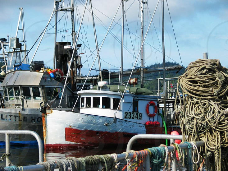 Old Fishing Boat and Ropes photo