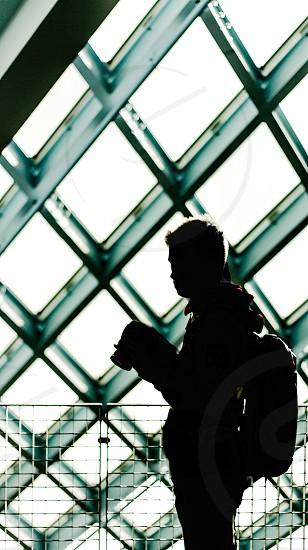 silhouette of man photo
