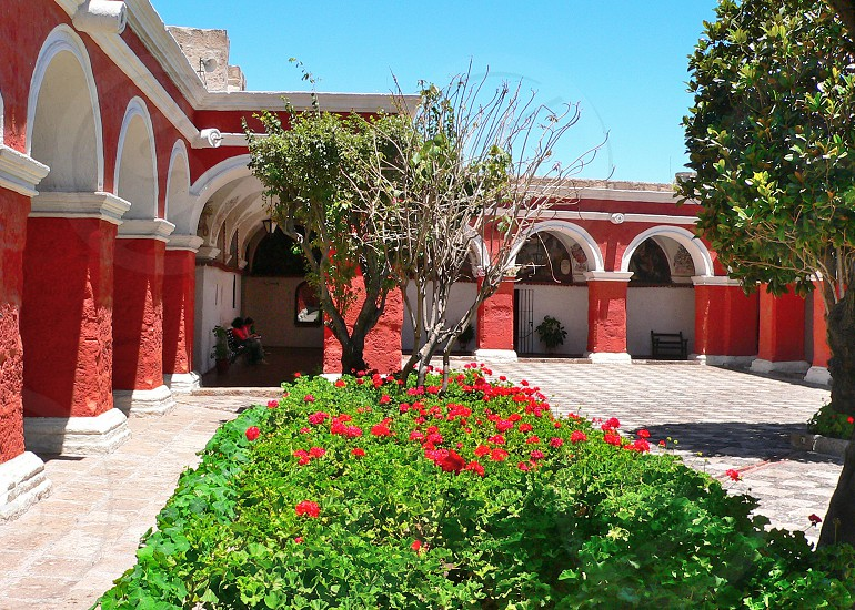 Monastery in Arequipa Peru. The majority part of the monastery is open to the public. photo