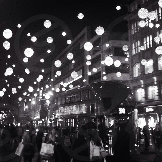 Oxford street xmas shopping photo