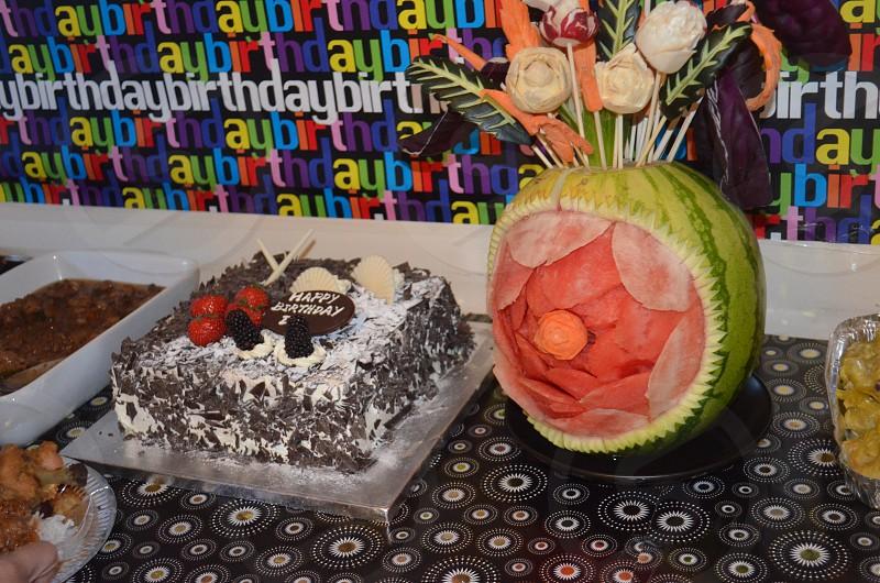 birthday cake... carved watermelon? photo