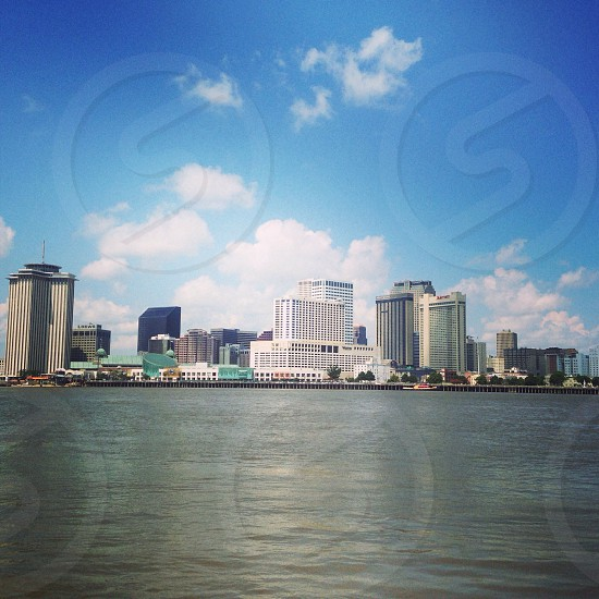 Daytime picture of the New Orleans Skyline from the Canal Street Ferry photo