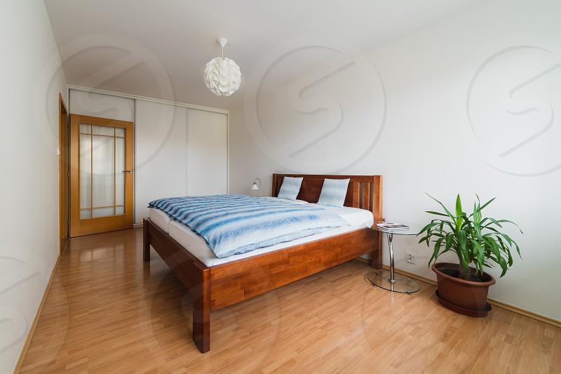 Simple clean bedroom photo