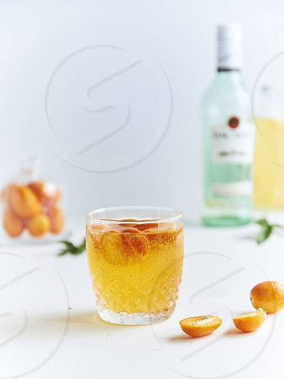 White rum and kumquat fizz   photo