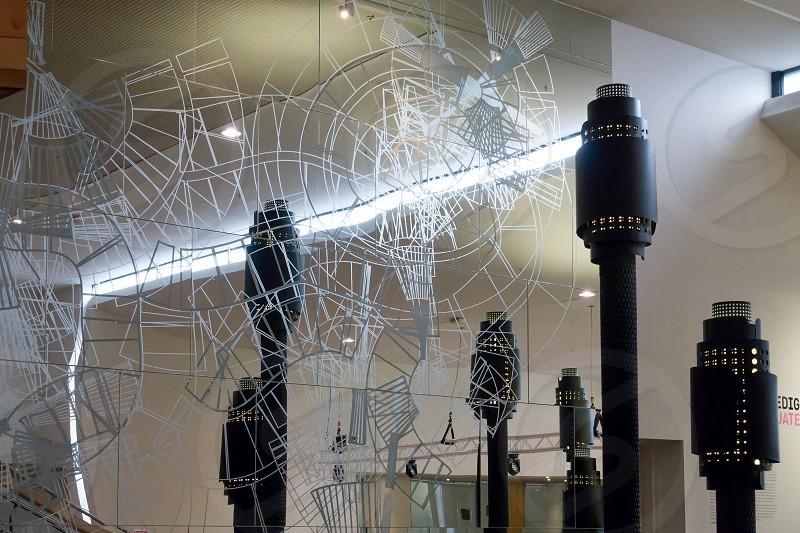 Interior of the Millennium Centre in Cardiff photo