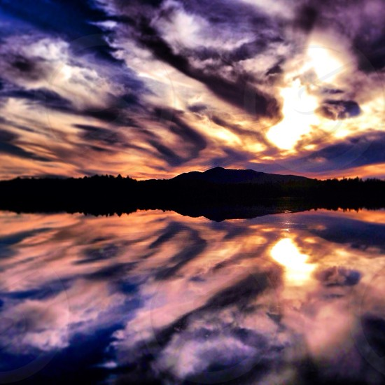 perfect reflections in the Adirondacks photo