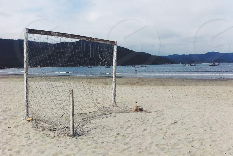 beach soccer nature photo