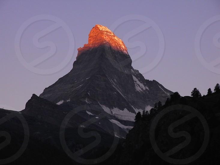 MatterhornMorningGlowZermatt.Swizerland.ConfoederatioHelvetica.SchweizerischeEidgenossenschaft.SwissConfederation.Travel.スイス.マッターホルン.朝焼け photo