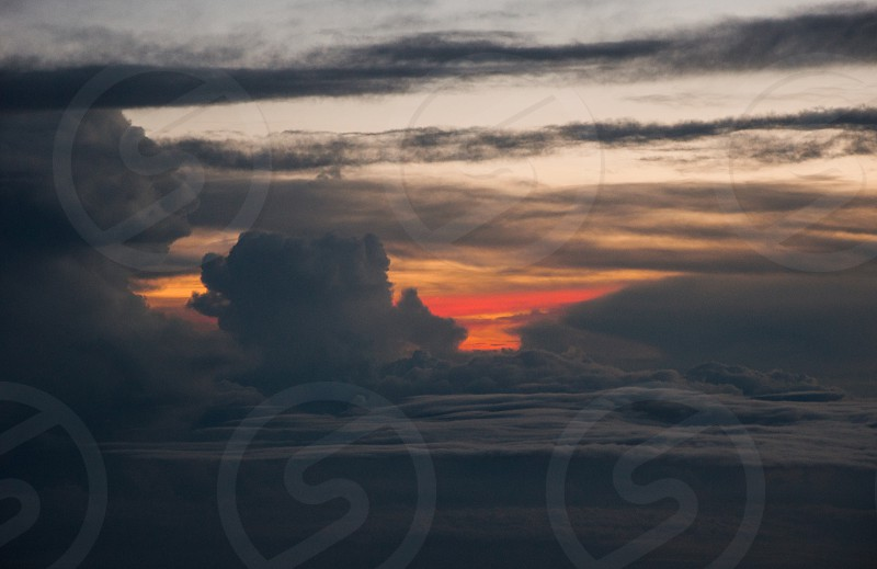 sunset sky clouds dusk skyscape skyline travel photo
