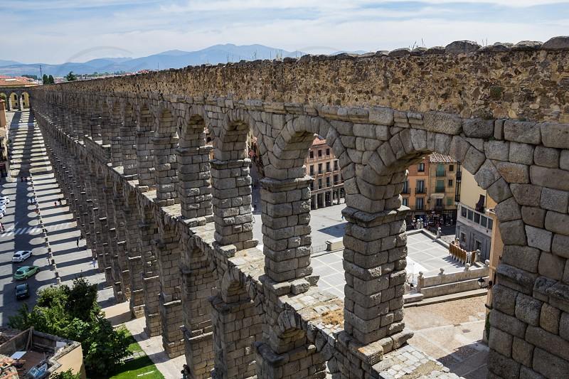 Aqueduct in Segovia Spain photo