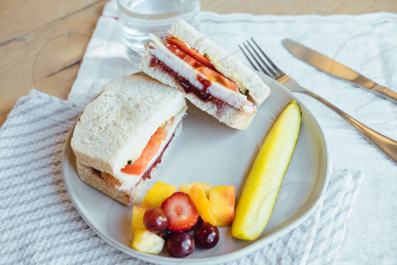 Roasted Turkey Berry Sandwich photo