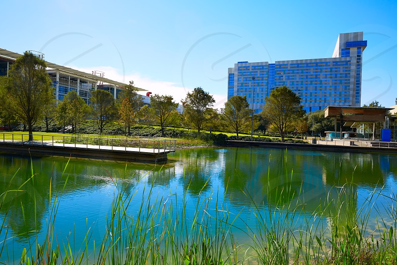 Houston Discovery green park in downtown Texas photo
