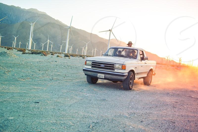 offroad 4x4 truck desert sunset photo