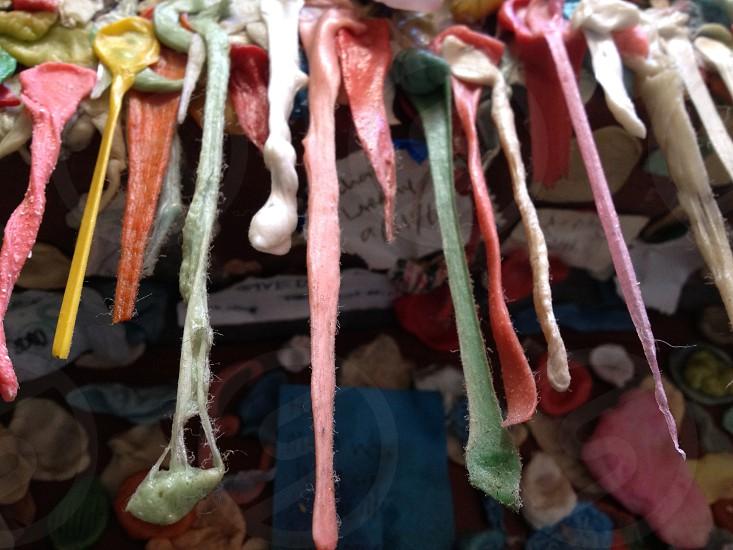 Hanging gum hiding little messages. photo