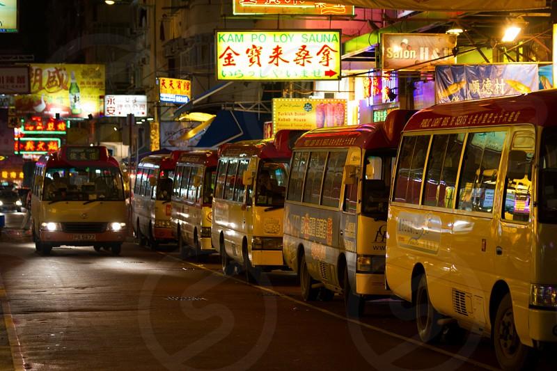 Hong Kong China Alley Night photo