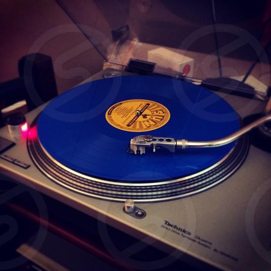 Blue vinyl photo