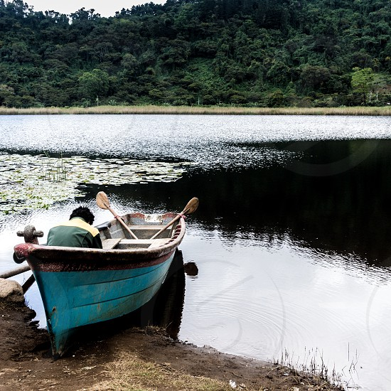 boat man photo