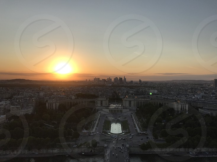 When Paris from tower photo