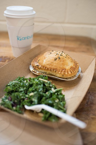 double crust pie shop kale salad coffee market photo