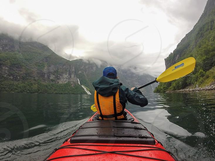Kayaking Geirangerfjord photo
