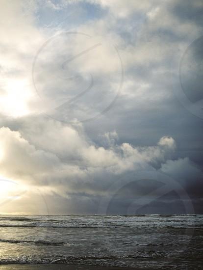 Stormy skies on the Oregon Coast photo