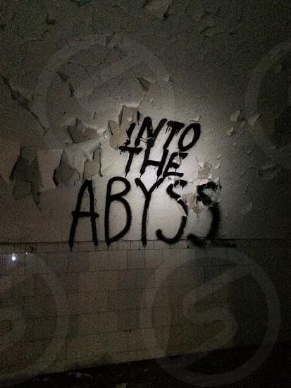 Basement graffiti.  photo