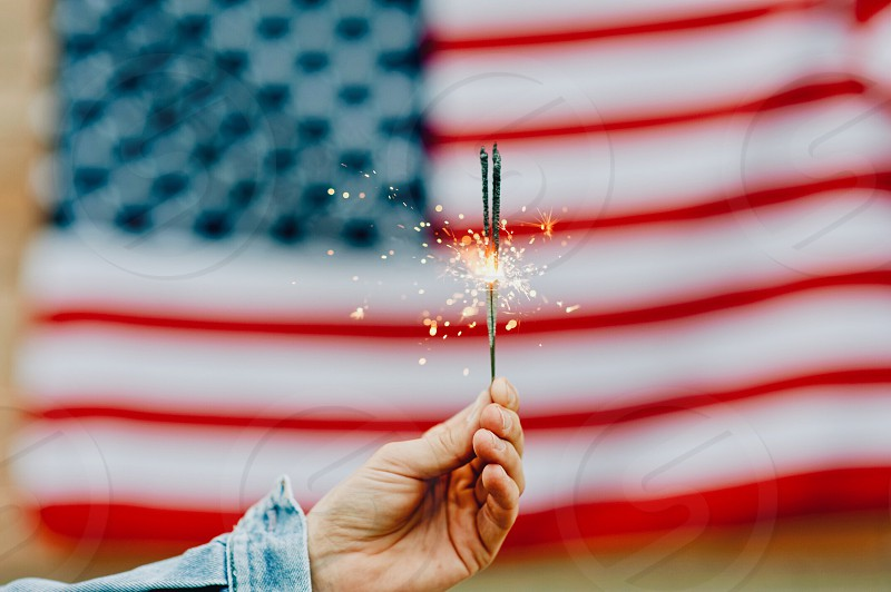 USA flag america american flag united states of america independence day fireworks celebration July 4th 4th of July patriot America Independence Day July independence American photo