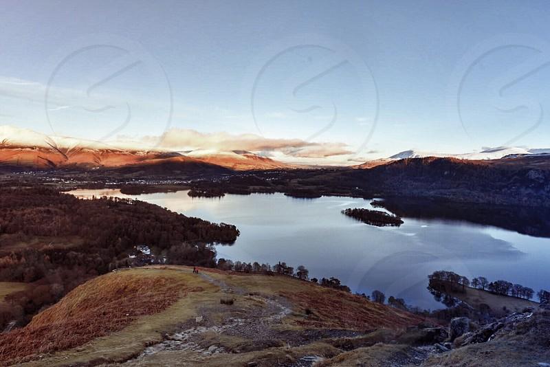 Lake District lake scenery mountain photo