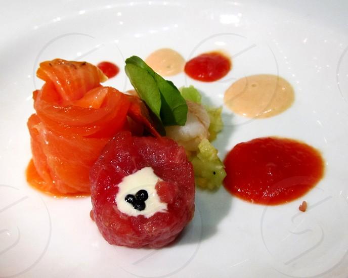 Raw fish appetizer photo
