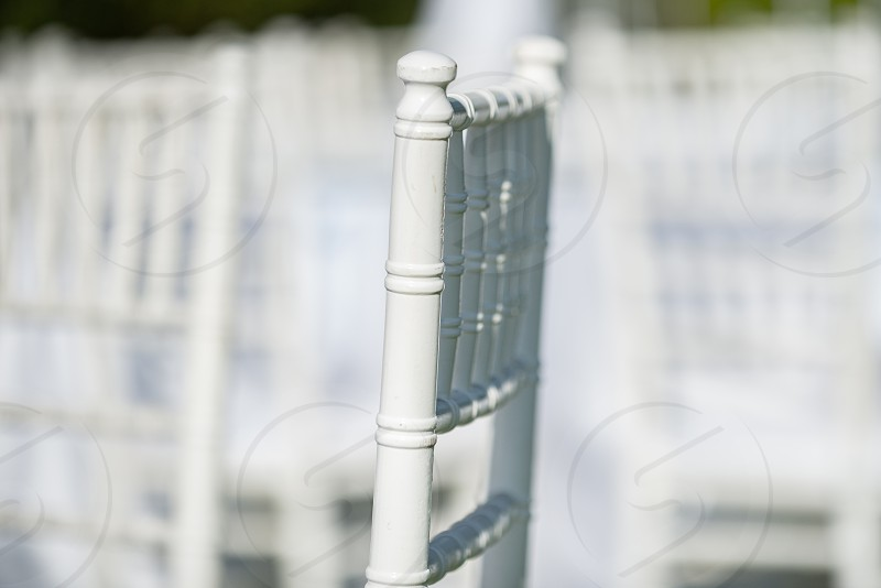 Isolated white chiavari Chair photo