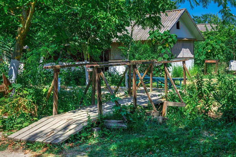 Berth in the Danube Delta in Vilkovo Ukraine photo