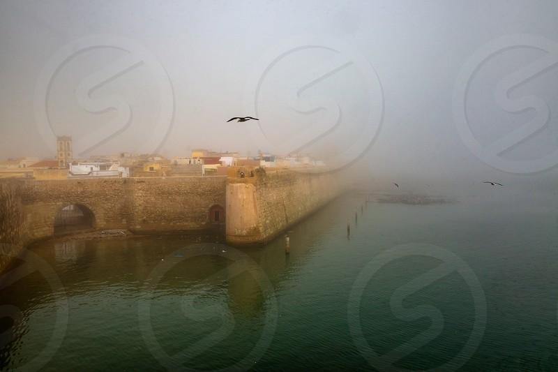 The walls of the ancient Portuguese fortress El Jadida Morocco photo