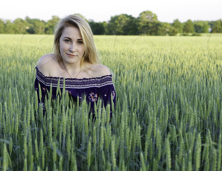 Girl in the field. photo