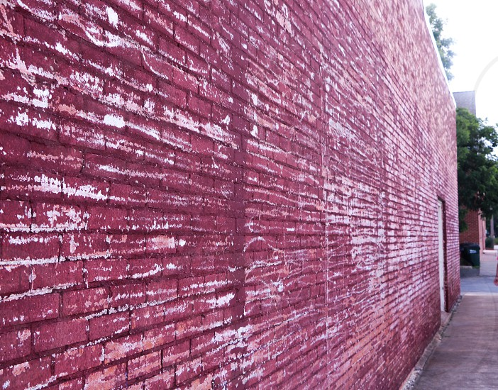 Red wall red wall simple brick. photo