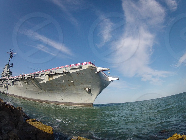 grey air craft carrier  photo