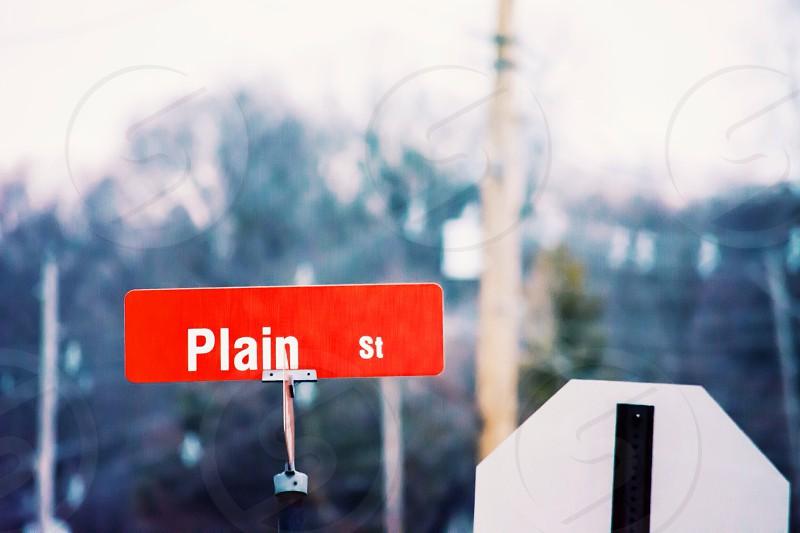 plain st road sign photo