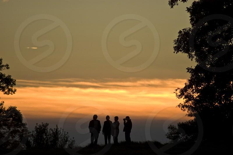 Admiring the Sunset  photo