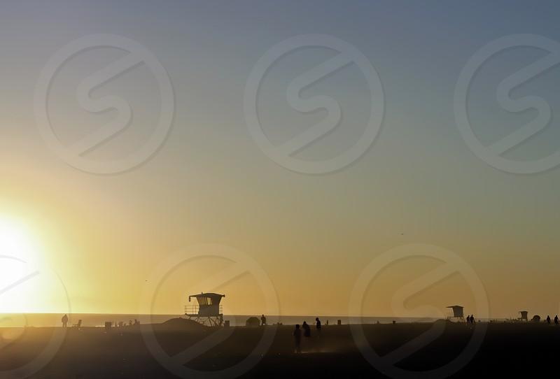 Dawn at the beach photo