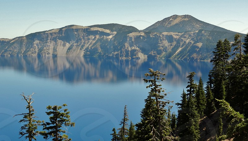 Crater Lake in Klamath County Oregon photo