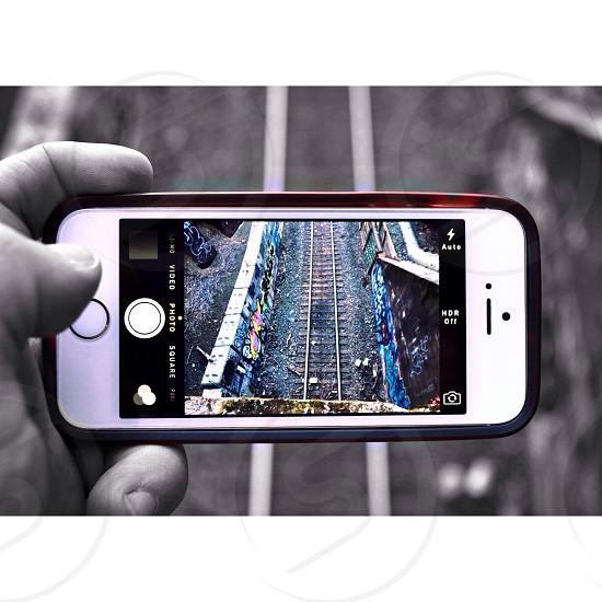 Railroad at hand.  photo
