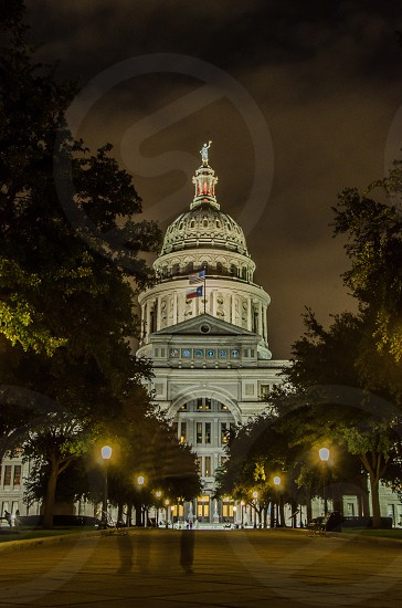 Long Exposure of the capital building in Austin Texas. photo