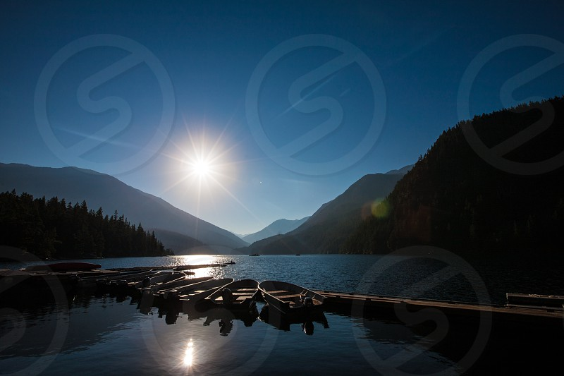 sunrise view over lake photography photo
