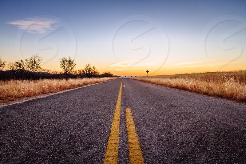 rural road landscape photo