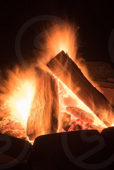 fire Flames heat burn bonfire firepit summer nighy photo