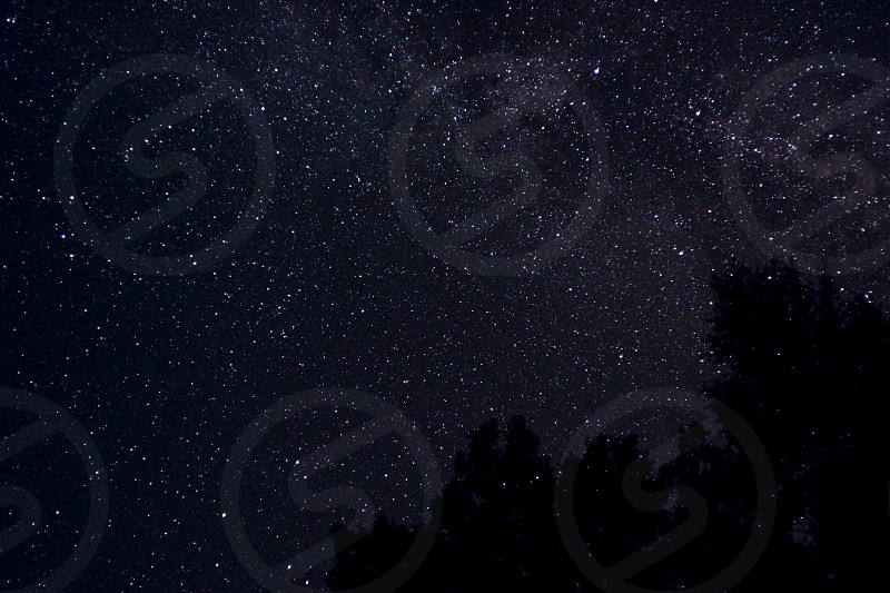 Stars night space galaxy milkyway nature photo
